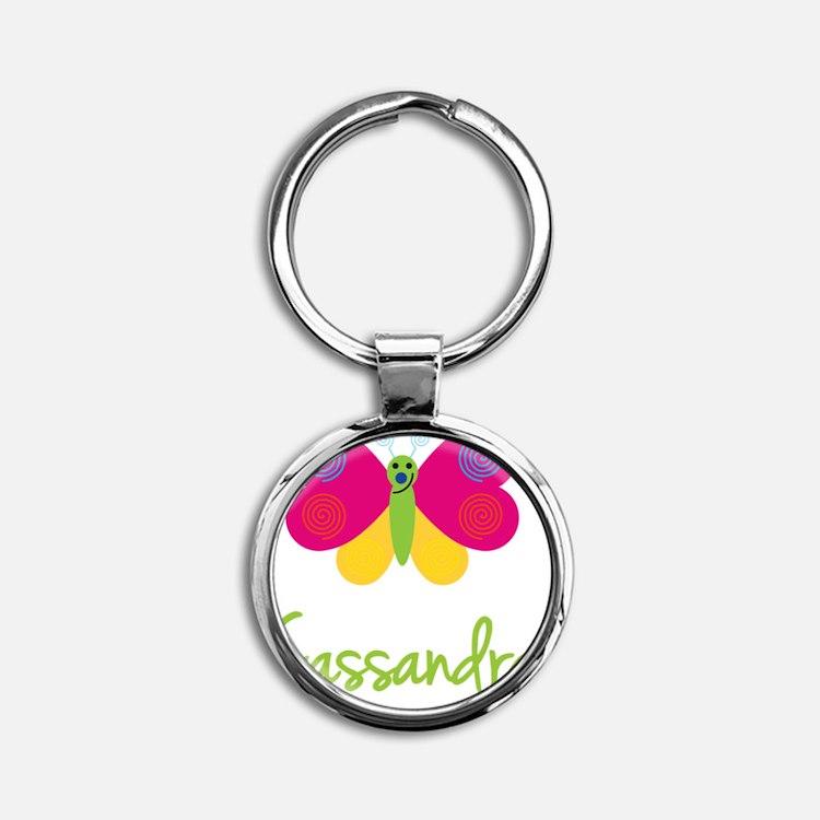 Cassandra-the-butterfly Round Keychain