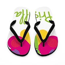 Priscilla-the-butterfly Flip Flops