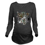 Anderson Tartan Lion Long Sleeve Maternity T-Shirt - Scottish lion rampant with the Anderson clan tartan and a banner with the family name. - Availble Sizes:Small,Medium,Large,X-Large,2X-Large (+$3.00) - Availble Colors: Black,Navy,Charcoal Heather,Emerald