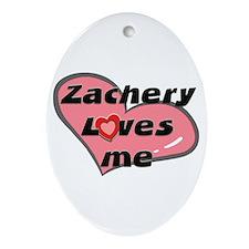 zachery loves me  Oval Ornament