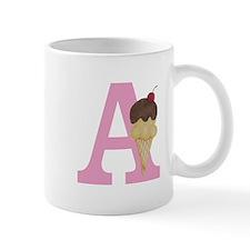 Pink A Ice Cream Cone Mugs