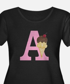 Pink A Ice Cream Cone Plus Size T-Shirt
