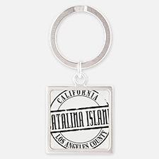 Catalina Island Title W Square Keychain