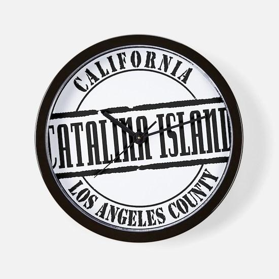 Catalina Island Title W Wall Clock
