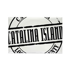 Catalina Island Title W Rectangle Magnet
