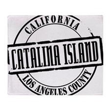 Catalina Island Title W Throw Blanket