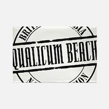 Qualicum Beach Title W Rectangle Magnet