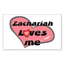 zachariah loves me Rectangle Decal