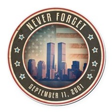 july11_never_forget_2 Round Car Magnet