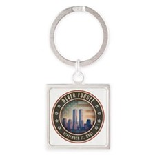 july11_never_forget_2 Square Keychain