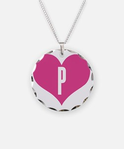 Heart P letter - Love Necklace