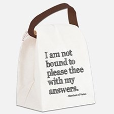 please answers Canvas Lunch Bag