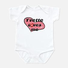 yvette loves me  Infant Bodysuit