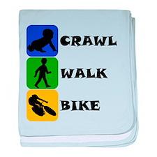 Crawl Walk Bike baby blanket