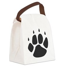 Pawprint_b Canvas Lunch Bag