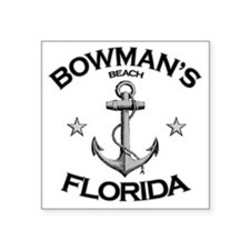"BOWMANS BEACH FLORIDA copy Square Sticker 3"" x 3"""