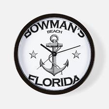BOWMANS BEACH FLORIDA copy Wall Clock