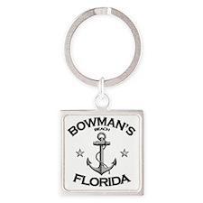 BOWMANS BEACH FLORIDA copy Square Keychain