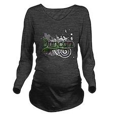 Duncan Tartan Grunge Long Sleeve Maternity T-Shirt