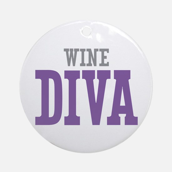 Wine DIVA Ornament (Round)