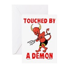 Touched By A Demon Greeting Cards (Pk of 10)