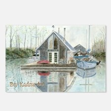 afloat-bkArt-labtop Postcards (Package of 8)
