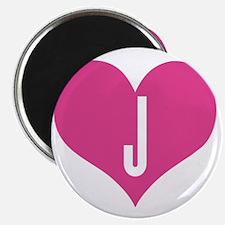 Heart J letter - Love Magnet