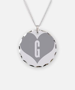 Heart G letter - Love Necklace