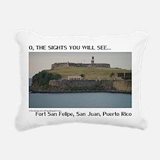 Fort San Felipe Rectangular Canvas Pillow