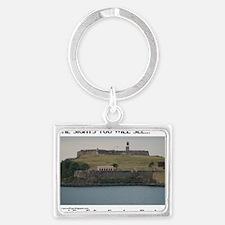 Fort San Felipe Landscape Keychain