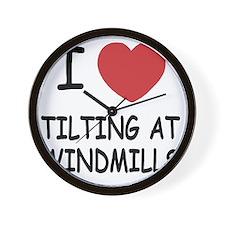 TILTING_AT_WINDMILLS Wall Clock