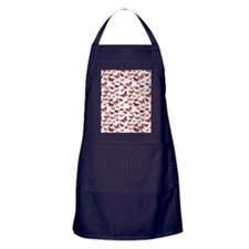 Pink Butterfly Card Apron (dark)
