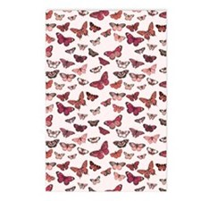 Pink Butterfly Card Postcards (Package of 8)