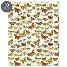 Vintage Butterfly Card Puzzle
