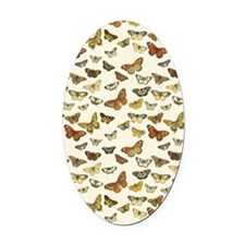 Vintage Butterfly Card Oval Car Magnet