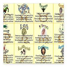 "zodiac-poster Square Car Magnet 3"" x 3"""
