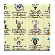 zodiac-poster Tile Coaster