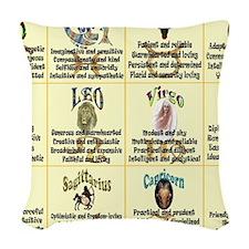 zodiac-poster Woven Throw Pillow