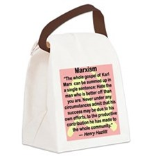 THE GOSPEL OF KARL MARX... Canvas Lunch Bag