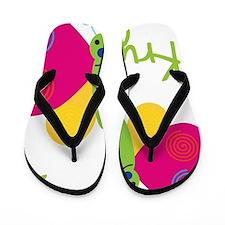 Krystal-the-butterfly Flip Flops