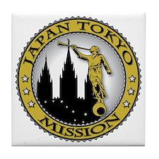 Japan Tokyo LDS Mission Angel Moroni  Tile Coaster