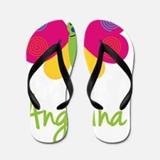 Angelina-the-butterfly Flip Flops