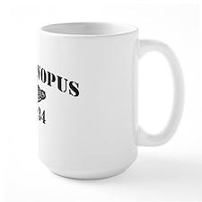 canopus black letters Mug