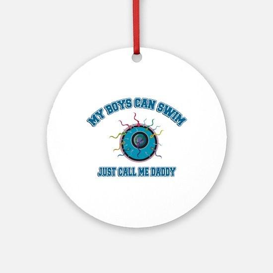 My Boys Can Swim Ornament (Round)