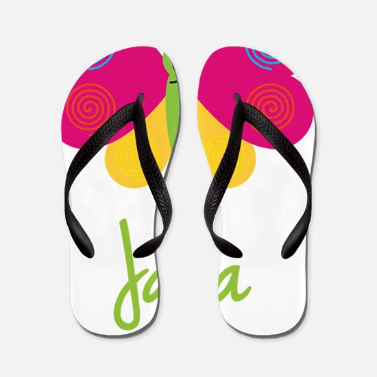 Jana-the-butterfly Flip Flops