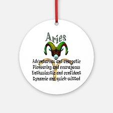 aries Round Ornament