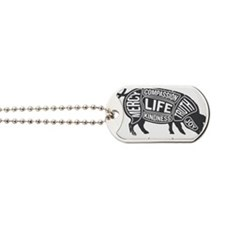 Pig-Gray Dog Tags