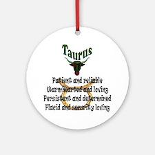 taurus Round Ornament