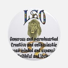 leo Round Ornament