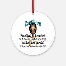 capricorn Round Ornament